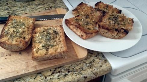 Focaccia style Garlic Bread