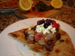 Grilled Greek Style Kabobs with Feta in a Gyro from Paggi Pazzo