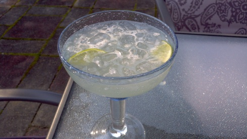 Mexican margarita with tequila, Contreau and Triple Sec from Paggi Pazzo.