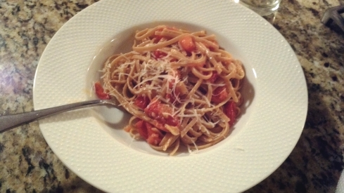 Tomato, Basil, and Garlic Linguine Pasta Recipe from Paggi Pazzo