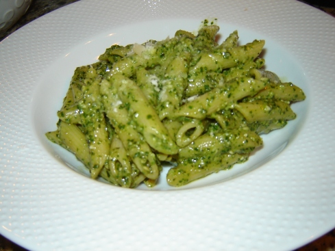 Authentic pesto pasta sauce recipe from Liguria with basil, garlic, Italian pine nuts, Pecorino Sardo and Grana Padano from Paggi Pazzo!