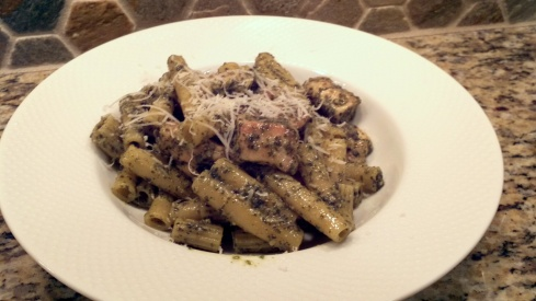 Authentic Ligurian pesto with chicken and ziti recipe from Paggi Pazzo