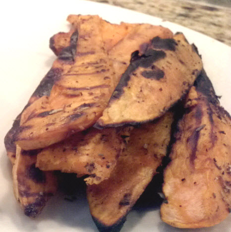 Grilled sweet potato steak fries from Paggi Pazzo