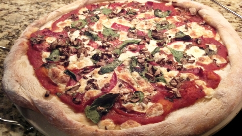 Pizza Toscano, featuring Tuscan salame and cheese from Paggi Pazzo