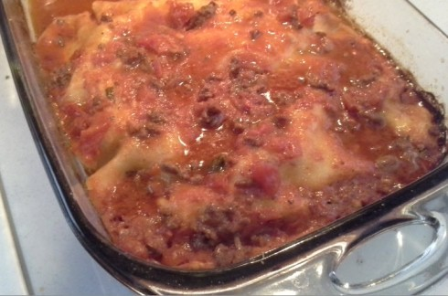 Baked authentic Lasagne alla Romana recipe from Paggi Pazzo