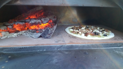 Speck, Taleggio, Figs & Mushroom Brick Oven Pizza Recipe Photo from Paggi Pazzo!